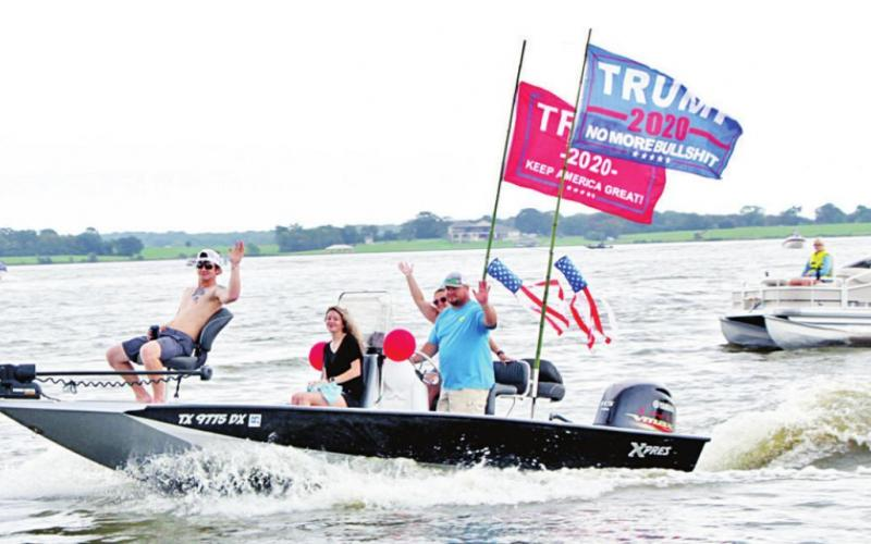Trump support boat parade attracts 100-200 boats to Lake Limestone