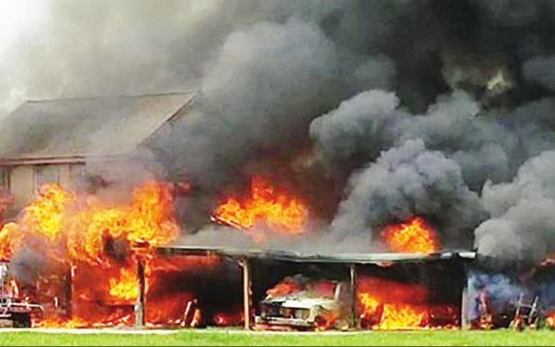 Firefighters battle blaze at Kosse home