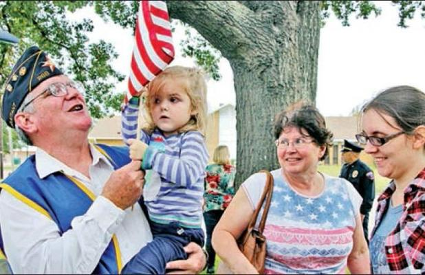 Limestone honors veterans with parade 100th birthday for WWII vet and American Legion
