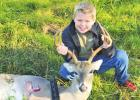 10-year-old boy gets first deer