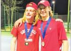 Groesbeck Tennis Grabs two doubles championships