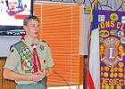 Lions hear an interesting program from young marine